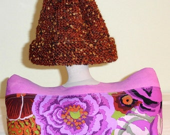 Handknitted Hat/Cap - Smart Mohair-n-Carioca Yarn -