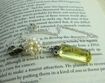 Sunshine Yellow Ultra Luxe Lemon Quartz and Pearl pendant necklace