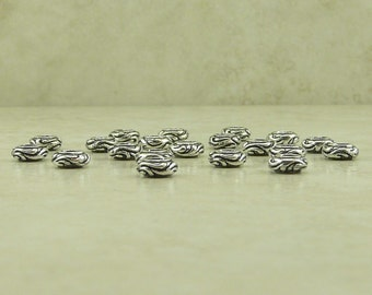 20 TierraCast Small Woodland Vine Spacer Beads - Flower Plant Garden - Fine Silver Plated Lead Free Pewter - I ship Internationally 5649