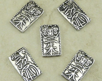 5 TierraCast Nisshu Japanese Coin Charms > Silver Plated Lead Free Pewter - I ship Internationally 2025