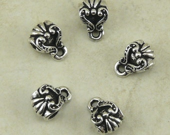 5 TierraCast Ornate Scroll Victorian Bails > Heirloom Romantic Steampunk Gothic - Silver Plated LEAD FREE Pewter I ship Internationally 5508
