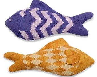 Chevron Diamond Fish Pattern, PDF format