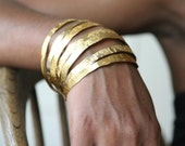 Hand Etched Gold Plated Brass Bangles - All sizes ready to ship - Free Shipping