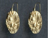 Reticulated Oval Earring