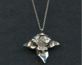 Sterling Silver Large Water Chestnut Necklace