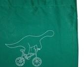 dino bike ride - kelly green