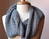 Luxurious Pure Wool Knit Cowl - The Bridget II Cowl - Sable Grey - RESERVED for Oujua