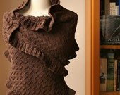 Rococo Shawl - Luxurious and Elegant Knit Cotton and Merino Wrap - Custom Colors