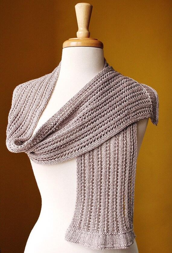 Spring Fashion Accessories - Lace Knit Scarf - Elegant Cotton Blend Knit Wrap