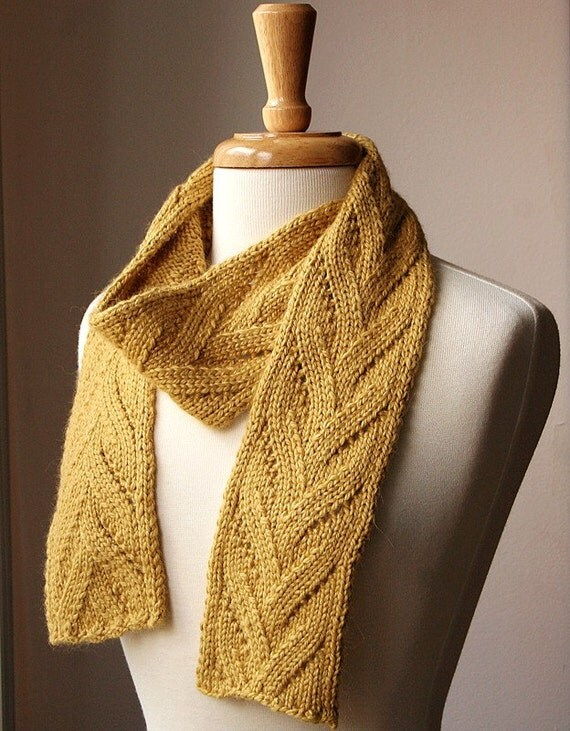 Buttercup Luxurious Knit Scarf Baby Alpaca and Silk