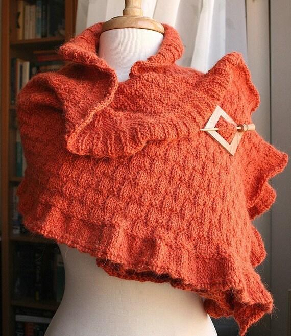 Rococo Shawl Luxurious and Elegant Knit Wool and Llama Wrap