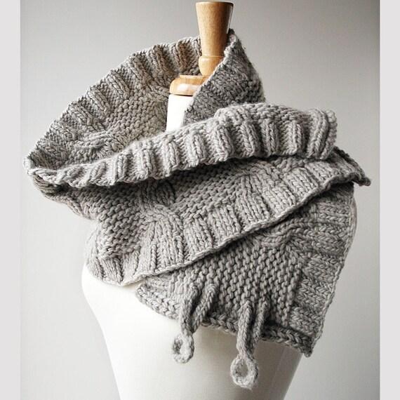 Spring Fashion - Luxurious Knit Shoulder Wrap - Organic Merino Wool - Winter Accessories - Winter Fashion