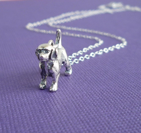 sterling beagle necklace charitable donation