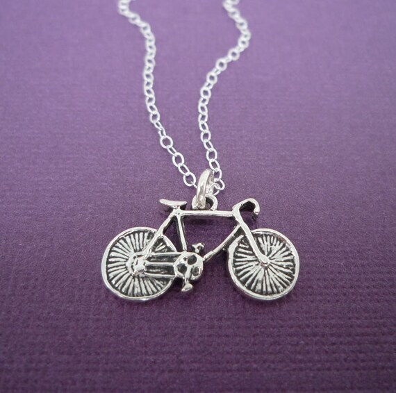 sterling bike necklace