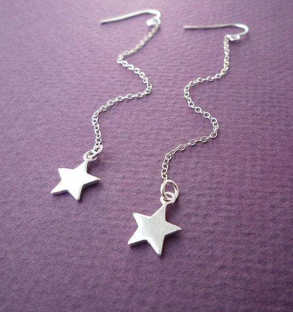 sterling star dust earrings