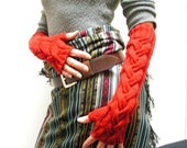 Pattern PDF Drama Queen Cabled Fingerless Mitts