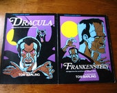 Vintage DRACULA and FRANKENSTEIN Illustrated Books