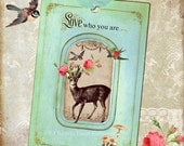 Gift Tags Deer Woodland Love who you are