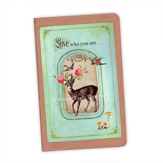 Woodland Deer Love who you are Deer Customised Moleskine Notebook