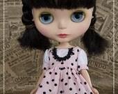Blythe Black and Pink Dots Dress