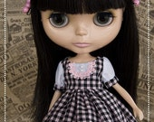 Blythe Black and Pink Checkers Dress