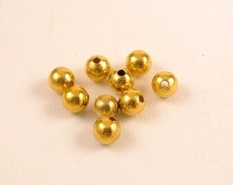 4mm Gold plated Rounds
