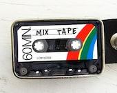 Cassette Tape Belt Buckle- mix tape