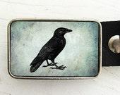 Vintage Raven Belt Buckle