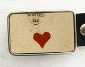 Single Red Heart Belt Buckle, Valentine, Valentine's Day