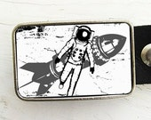 Rocket Man Belt Buckle