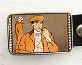 Dapper Golfer Belt Buckle, Father's Day, Gift Under 30