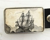 Flying Dutchman- Vintage Ship Belt Buckle-As seen on Style Me Pretty
