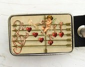 Vintage Cupid Belt Buckle