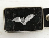 Vintage Bat Belt Buckle - Halloween