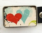 Colorful Heart Belt Buckle