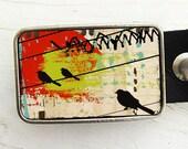 Abstract Birds Belt Buckle