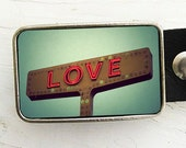 Love Signs Belt Buckle- Collaboration with Bomobob
