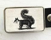 Woodland Creature Belt Buckle, Squirrel