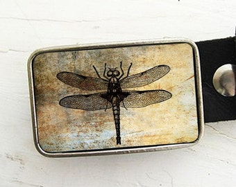 Vintage Dragonfly Belt Buckle
