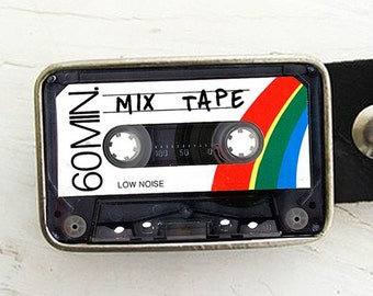 Cassette Tape Belt Buckle- mix tape