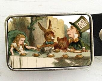 Alice In Wonderland Tea Party Belt Buckle