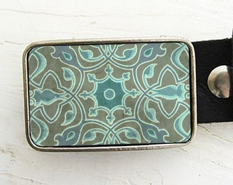 Turquoise Scroll Belt Buckle (pt. two)