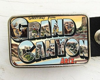 Retro Grand Canyon Postcard Belt Buckle