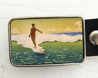 Vintage Surfer Belt Buckle