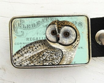 Belt Buckle- Vintage Owl