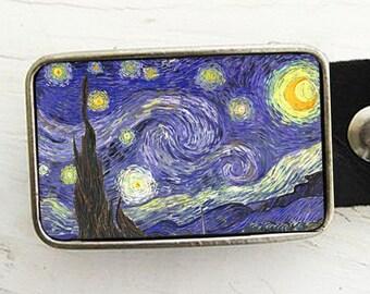 Van Gogh Starry Night Belt Buckle