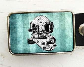 Vintage Diving Helmet Belt Buckle