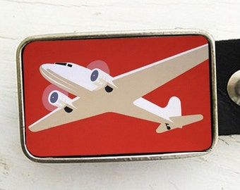 Vintage Airplane Belt Buckle