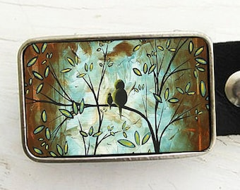 Birds in a Tree Belt Buckle