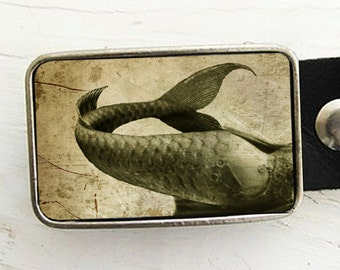 Mermaid Tail Belt Buckle, Mermaid Belt Buckle